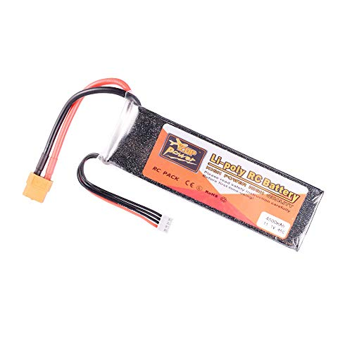 ZOP POWER 11.1V 45C 4500mAh 3S Lipo Battery XT60 Plug Rechargeable for RC Racing Drone Quadcopter Helicopter Car Boat