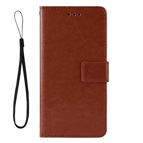 가죽 커버 호환 삼성 갤럭시 S9 플러스 브라운 지갑 케이스 삼성 갤럭시 S9 플러스