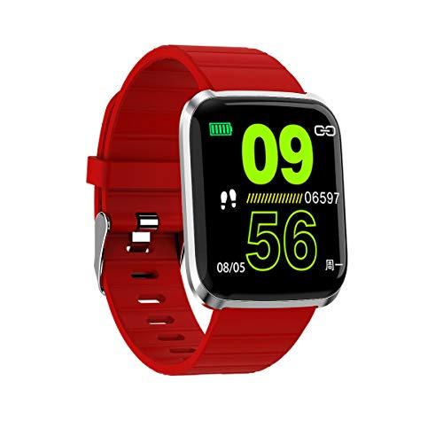 Yiwa kleurendisplay HD 116pro Smartwatch fitness tracker hartslagmonitor bloeddruk, Rood