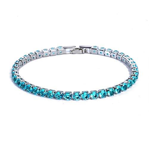 Armband sieraden Luxe 4Mm Cubic Zirconia Tennisarmbanden Iced Out Chain Crystal Wedding Bracelet For Women Heren Goud Zilver Kleur Armband