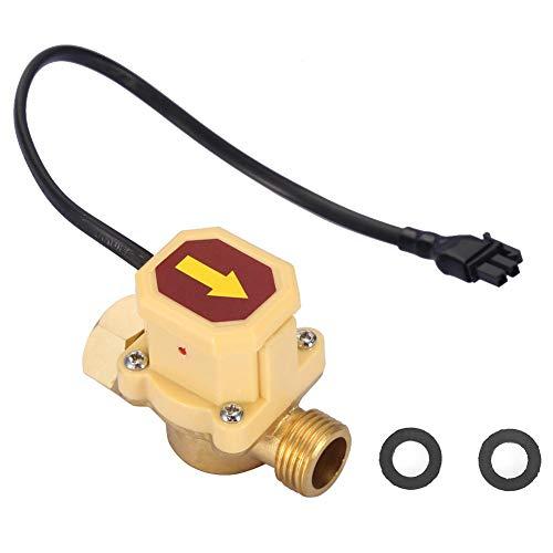 Stromingsschakelaar, G1/2-G1/2 draad 220V stroomregelingsschakelaar, instelbare stromingssensor, automatische schakelaar, opstarten met lage waterdruk, hittebestendige materialen