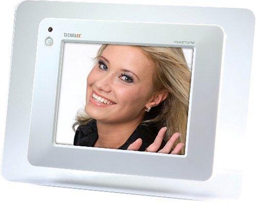 Technaxx PIXSTORE 8 Zoll LC Display SDHC Karten bis zu 8GB USB 2.0 Stereo Lautsprecher Einschubschacht fuer 2.5 Zoll HDD