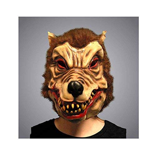 WearWolf Man Nightmare de tête de loup en Latex pour adulte Monster Fun Masque fantaisie spéciales Halloween Déguisement Happy Bargains Ltd fête