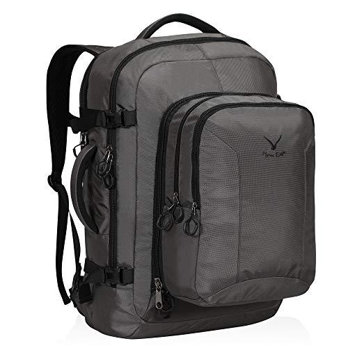 Hynes Eagle 48L Handgepäck Rucksack mit abnehmbarem Daypack Weekender Reiserucksack Rucksack 17 Zoll 54x35x20cm für Reisen Business Grau