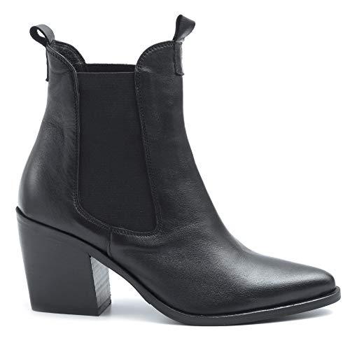 KEB laarzen Texani zwart leer met gemiddelde hak - 801 Soft Zwart - Gr.