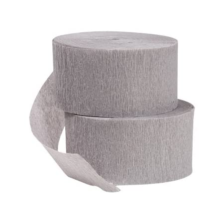 290 Feet Total Purple and Silver Metallic Crepe Paper Color Streamers Made in USA