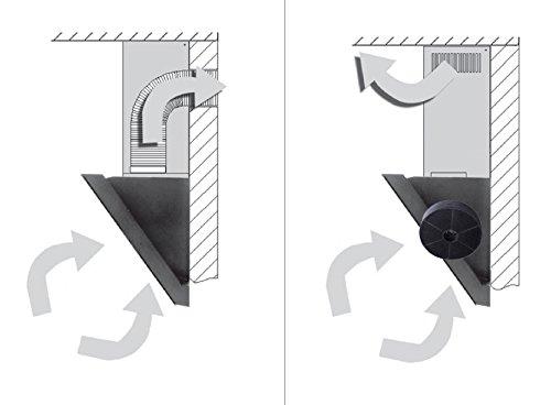 HAAG Vertikal Weiß + Glas + LED Dunstabzugshaube – Kopffrei – Wandhaube - 6