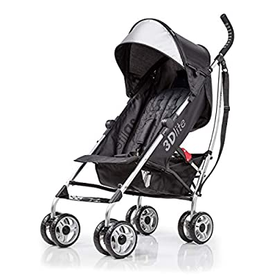 3Dlite Black Convenience Stroller (with Silver Frame) by Summer Infant