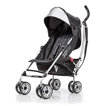 Summer Infant 3Dlite Convenience Stroller Black  Silver Frame