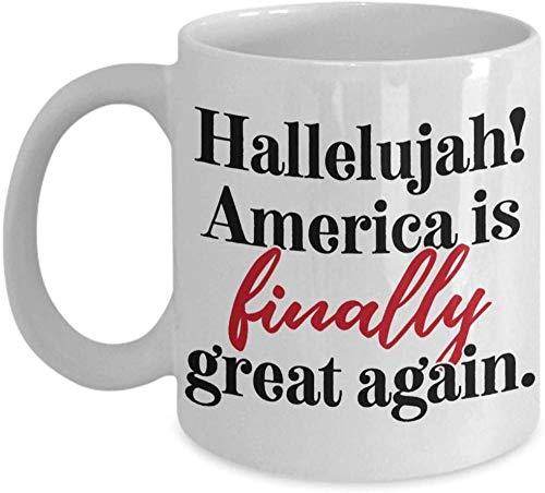 Halleluja! Amerika Endlich Wieder Großartig Kaffeetasse Keramik Kaffeetasse 11 Unzen Travl Kaffee Teetasse Tasse