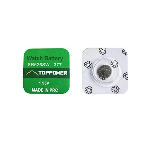 189 2-Pack TOPPOWER Button Cell Battery 1.5V 389A LR54 G10 LR1130