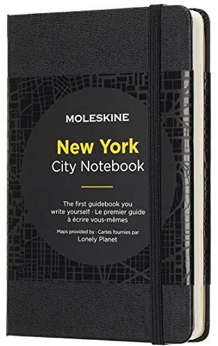 Moleskine City Notebook New York (mit weißen und linierten Seiten, Notizbuch mit Hardcover, elastischem Verschluss und Stadtplänen, Größe 9 x 14 cm, 220 Seiten) schwarz