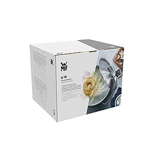 WMF Mini Dampfgarer mit Metalldeckel, klein, 16 cm, 1,5 l, Cromargan Edelstahl poliert, Induktion, stapelbar, ideal für kleine Portionen oder Singlehaushalte