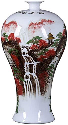 DQQQ Keramische Bodenvase Chinesische Bergwasserszene Blumenvase Handmade Home Dekorative Vase Sammlerkunst Geschenk-B