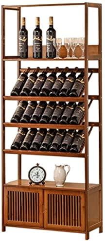 wikkeny Gabinete Tenedor de Vino Titular de Vino Soporte de Almacenamiento Vino de Vino Rack Estante de Vino Rack Estantes de Almacenamiento de Vino con Mesa de Almacenamiento de Vino