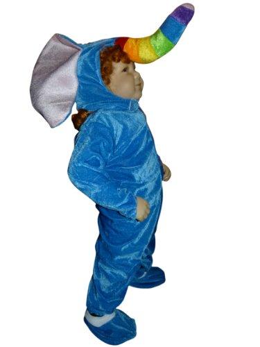 F81 Taglia 12-18M (80-86cm) Costume da Elefante per bambini e neonati, indossabile comodamente sui vestiti normali