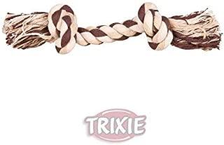 44/x 7/cm Trixie Denta Fun Jouet Corde pour chien avec balle tiss/ée en mod/èle al/éatoire