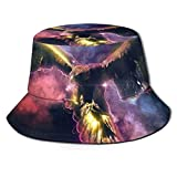 Sombrero de pescador unisex diseño de águila neón pájaro de presa viajes playa sol sombreros para hombres y mujeres