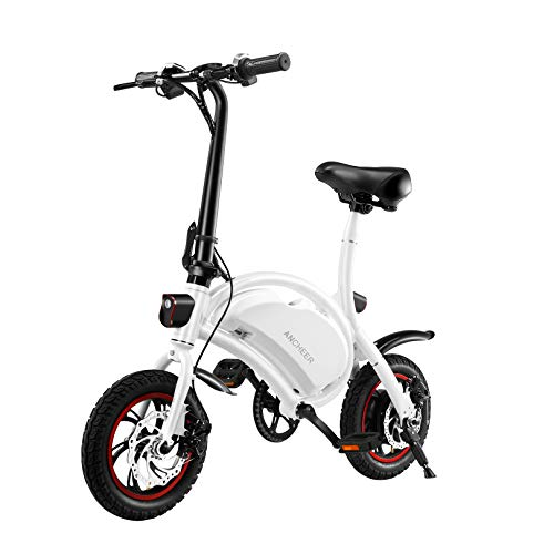 ANCHEER Electric Bike Electric Commuter Bike 500W Ebike 14'' Electric Bicycle, 20MPH Adults Ebike and Removable 48V 7.5Ah Battery Scooter