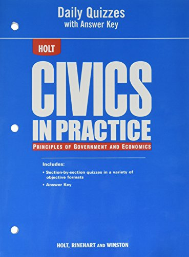 Civics in Practice: Principles of Government and Economics: Daily Quizzes with Answer Key