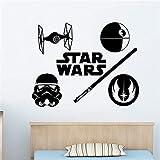 WandtattooLogo Vinyl Aufkleber Jedi Auftrag Krawatte Figh Kinderzimmer Dekor für Kinderzimmer e Art Decor Zitat Poster74 x 58 cm