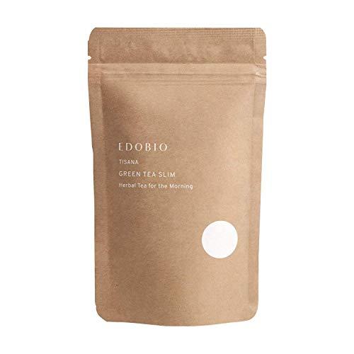 ブレンド ハーブティー EDOBIO(エドビオ) グリーンティー スリム 40g ブルーベリー くにさと 35 合成着色料 合成香料 合成保存料不使用