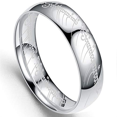 ERDING Unisex/Verlobungsring/Freundschaftsring/Edelstahlringe The Lord of One Ring 2019 Modeschmuck Herren Jungengeschenk Golden & Silver & Schwarz