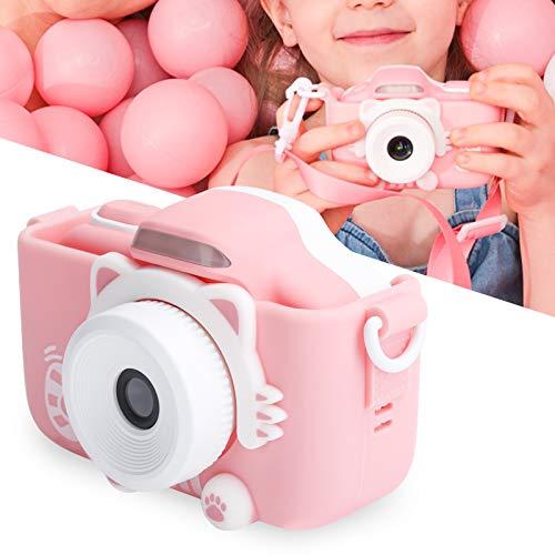 Cámara digital para niños, mini luz de relleno LED anticaída, pantalla táctil, videocámara de video con cámara automática, juguete para selfies, para jugar en casa