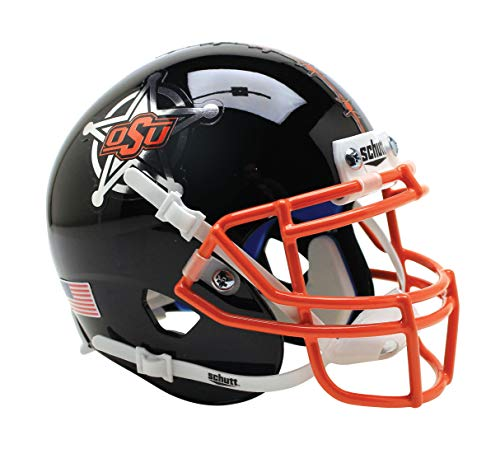 NCAA Okalahoma State Cowboys Mini Authentic XP Fußballhelm, Barbwire Alt. 17, Mini