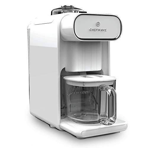 ChefWave Milkmade Dairy Alternative Vegan Milk Maker with 6 Plant-Based Auto Programs (Almond, Cashew, Oat, Soy, Macadamia, Coconut), No Soaking, Auto-Clean Function, Delay Start, Recipe Book