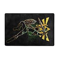 洗えるラグ The Legend Of Zeldaゼルダの伝说 ラグマット 滑り止め付 カーペット フロアマット 91x61cm