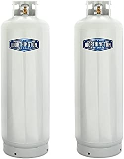 Worthington 303953 100-Pound Steel Propane Cylinder With 10% Valve And Collar (2-(Pack))