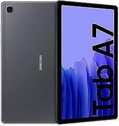 """Galaxy Tab A7 vanta un design dal profilo sottile e moderno; la scocca in metallo aggiunge uno stile sofisticato e lo spessore di solo 7 mm garantisce un'ottima portabilità Galaxy Tab A7 è dotato di un display immersivo da 10.4"""" che assieme ad un des..."""