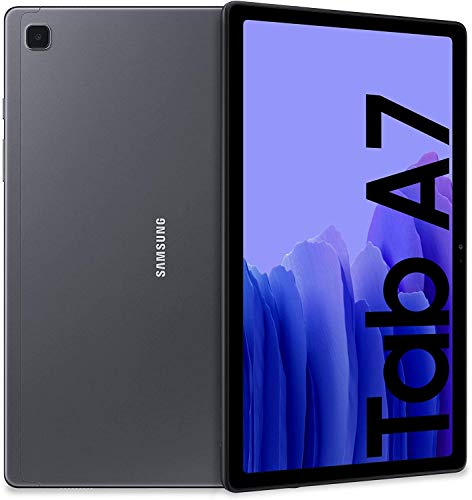Samsung Galaxy Tab A7 Tablet, Display 10.4  TFT, 64GB Espandibili Fino a 1TB, RAM 3GB, Batteria 7.040 mAh, Wi-Fi, Android 10, Fotocamera Posteriore 8 MP, Dark Gray [Versione Italiana]