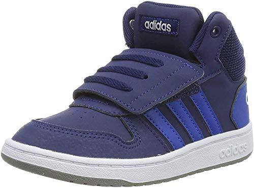 adidas Unisex Baby Hoops 2.0 Mid Sneakers, Navy, 25 EU