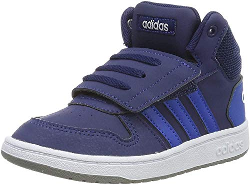 adidas Kids Hoops 2.0 Mid Sneakers, Navy, 25 EU
