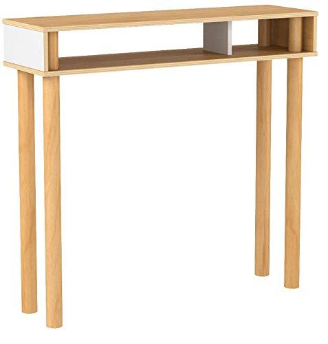 ideaco(イデアコ)ディエム(DM)コンソールテーブルホワイト幅79×奥行き23×高さ73cmPlywoodSeries(プライウッドシリーズ)