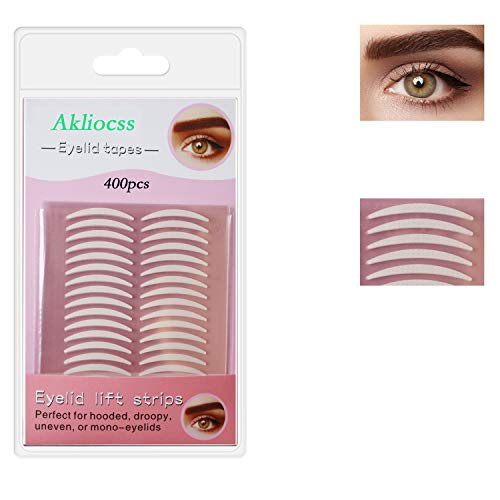400pcs Invisible Slim Single-Sided Eyelid Tapes Stickers, Medical-use Fiber...