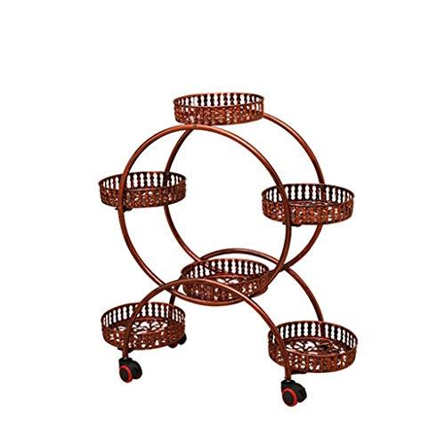 CXVBVNGHDF Home Balcone Supporto per Piante, Supporto per Fiori Ironrt Puleggia Mobile Multistrato Montaggio Balcone Soggiorno Mensola angolare Cornice per Bonsai Supporti per Piante
