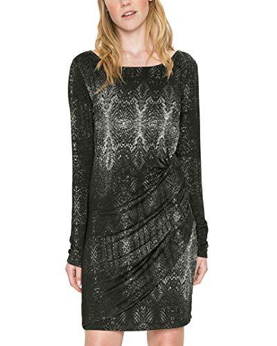 Desigual Damen Kleid VEST_BONNIE, Schwarz (Negro 2000), Gr. M (Herstellergröße:L)