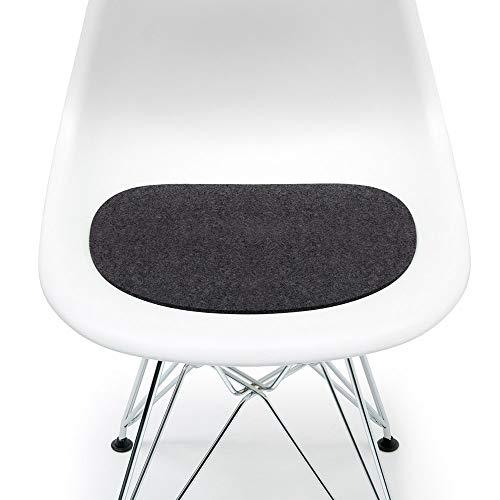 Hey Sign Sitzauflage Graphit mit Antirutsch für Eames Plastic Side Chair