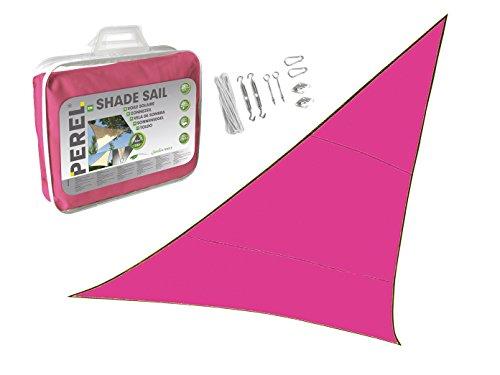 Luifel driehoek 3,6 m kleur roze met praktische oogjes montageset - zonwering voor uw tuin/balkon!