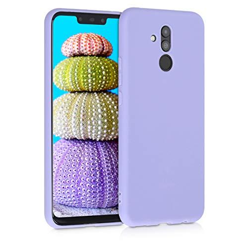 kwmobile Custodia Compatibile con Huawei Mate 20 Lite - Cover in Silicone TPU - Back Case per Smartphone - Protezione Gommata Lavanda Pastello