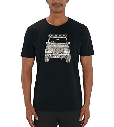 Land Rover Defender Print Men's White Slogan T-Shirt