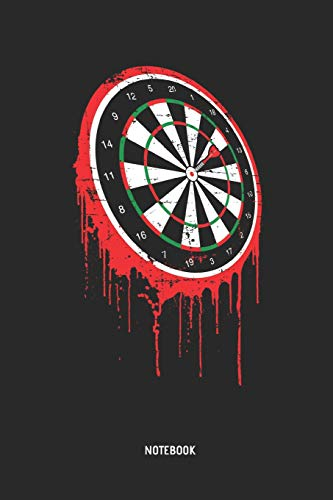 Darts | Notebook: Bloody Dart Board - Mens Blank Lined Darts Journal - Great Accessories & Father's Day Gift Idea for Dart Player.
