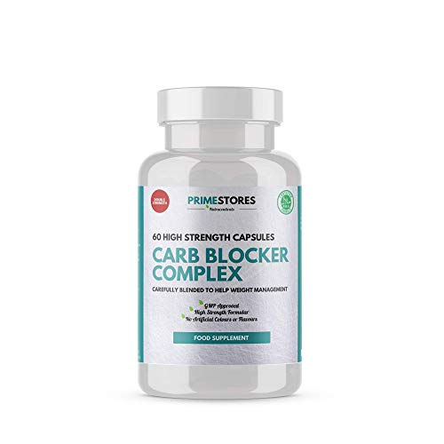 Carb Blocker Complex Diet Tablets - 60 Weight Loss Keto Capsules - High Strength Halal Slimming Pills Supplement by Primestores
