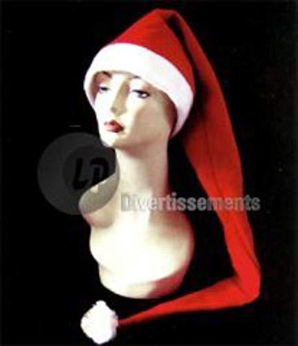 COOLMP Fiesta Palace - Bonnet De Noël Tres Long avec Clochettes