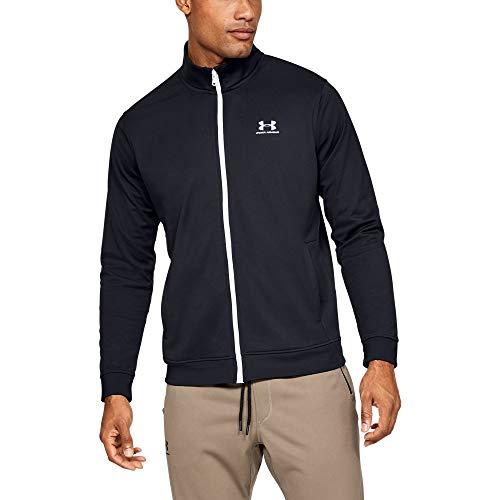 Under Armour Sportstyle Tricot Jacket Parte Superior del Calentamiento, Hombre, Negro (Black/White 001), XL