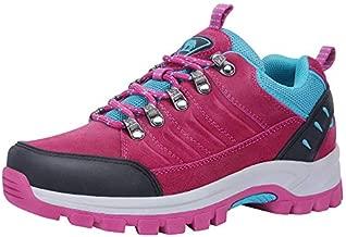 CAMEL CROWN Hiking Shoes Women Waterproof Non Slip Sneakers Low Top for Outdoor Trekking Walking Red 11
