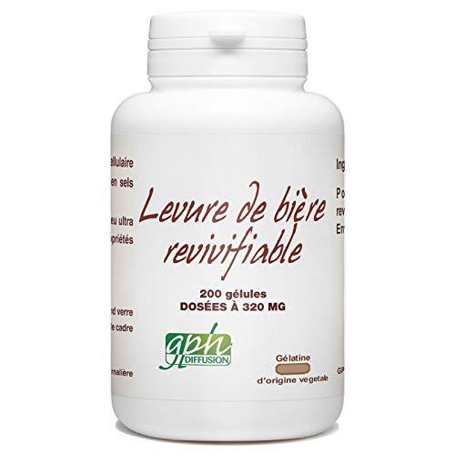 Levure de Bière Revivifiable - 320 mg 200 gélules végétales